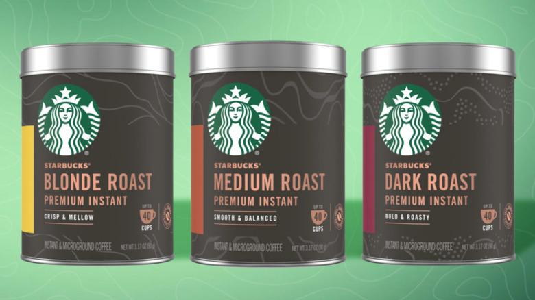 Jars of Starbucks premium instant coffee