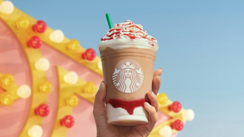 Strawberry Funnel Cake Frappuccino from Starbucks
