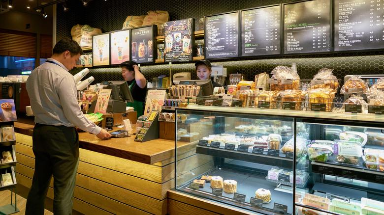 Starbucks pastry refrigerator