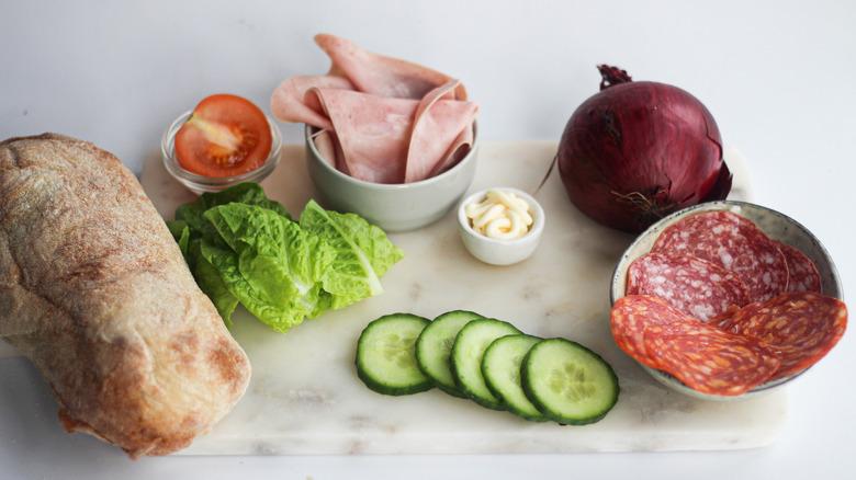Subway B.M.T. ingredients