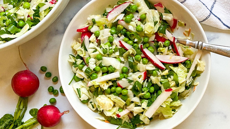 Summer Pea Salad Recipe in a bowl