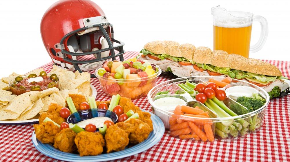 super bowl food platter
