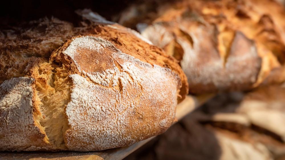 Sourdough bread on shelf