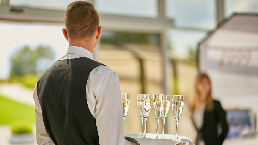 Waiter with drink tray