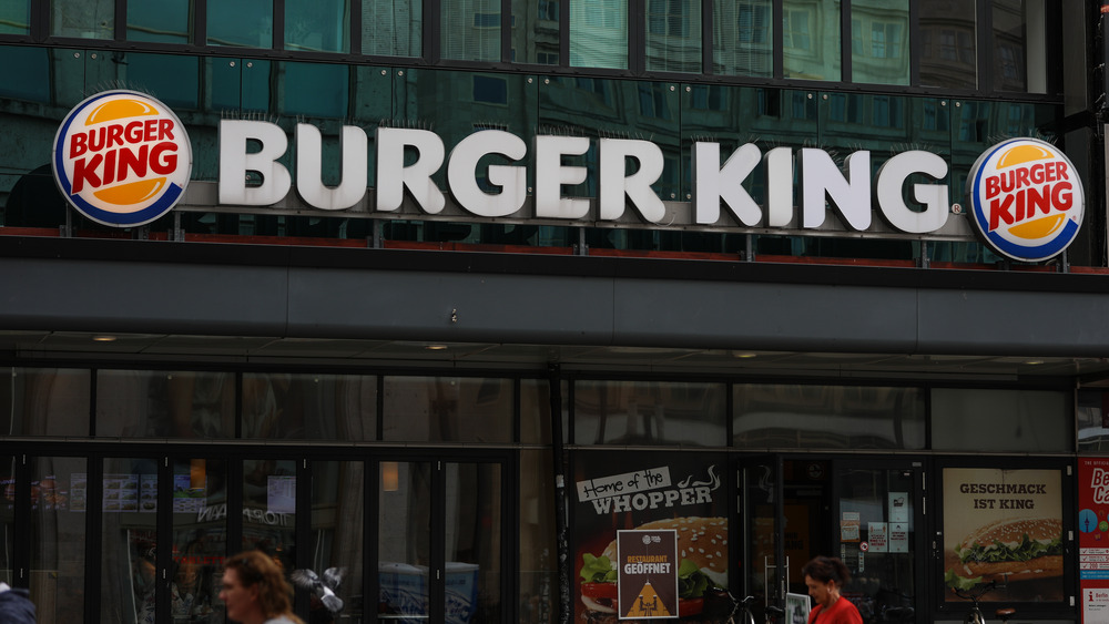 Burger King sign and posters