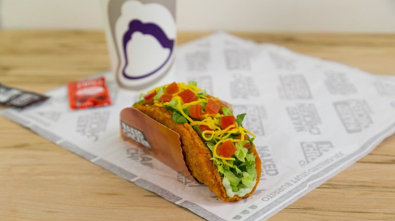 Taco Bell Chalupa on wrapper