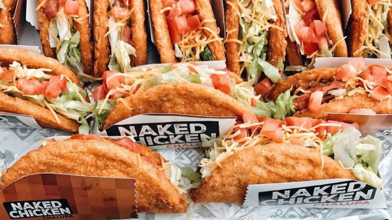 Many Naked Chicken Chalupas from Taco Bell