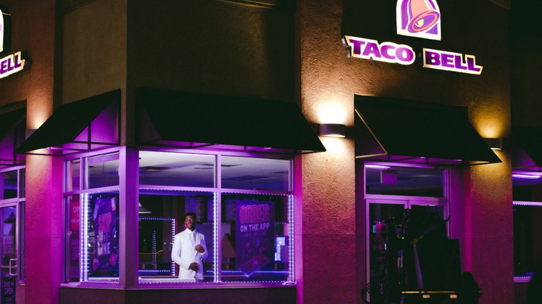 Lil Nas X video shoot at Taco Bell