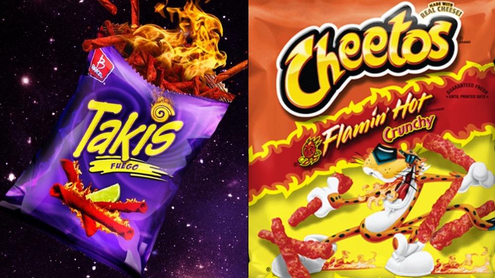 Takis and Flamin' Hot Cheetos