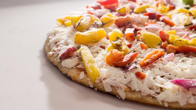 Frozen vegetable pizza