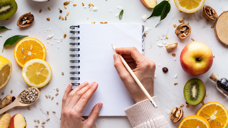 A generic image of a person writing a recipe