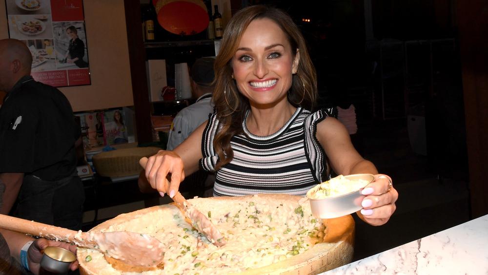 Giada De Laurentiis serving pasta