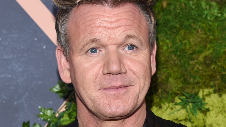 Gordon Ramsay in a leather jacket