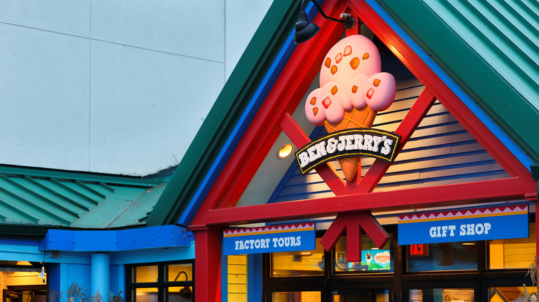 Ben & Jerry's factory storefront