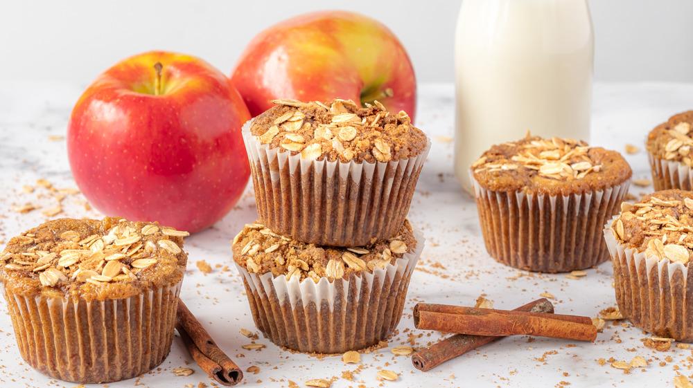 apple cinnamon muffins served