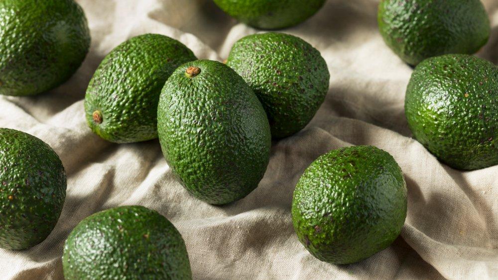 Unripe avocado