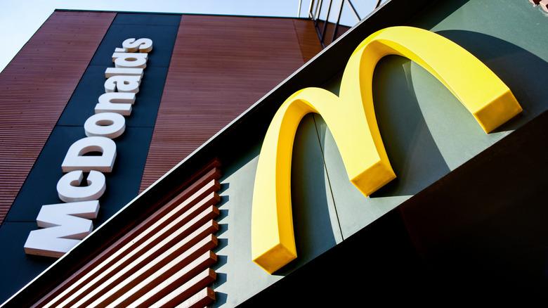 McDonald's sign and restaurant