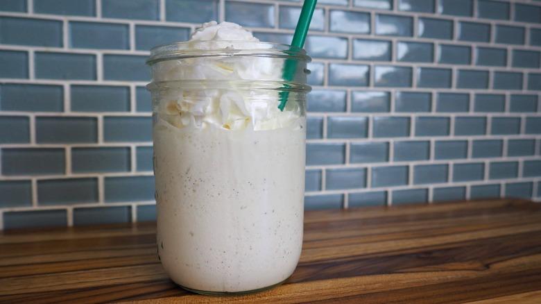 3-ingredient copycat Starbucks Vanilla Bean Crème Frappuccino recipe