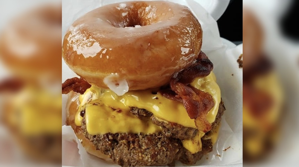 'The Glazed One' burger at Thee Burger Spot