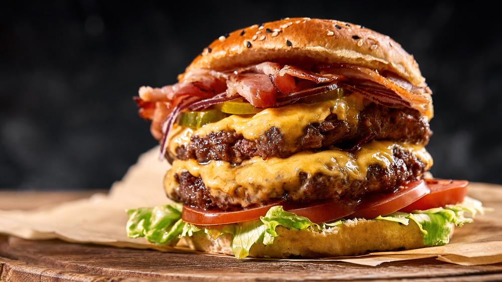 Thick, juicy burger