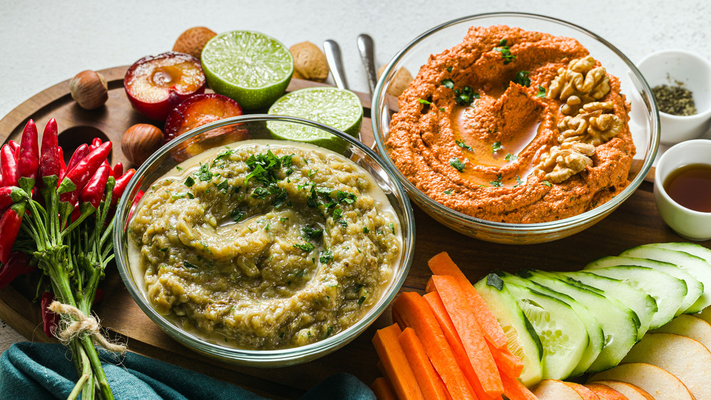 party dips with vegetables