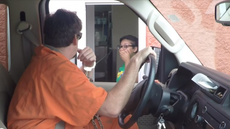 convict in the drive-thru prank