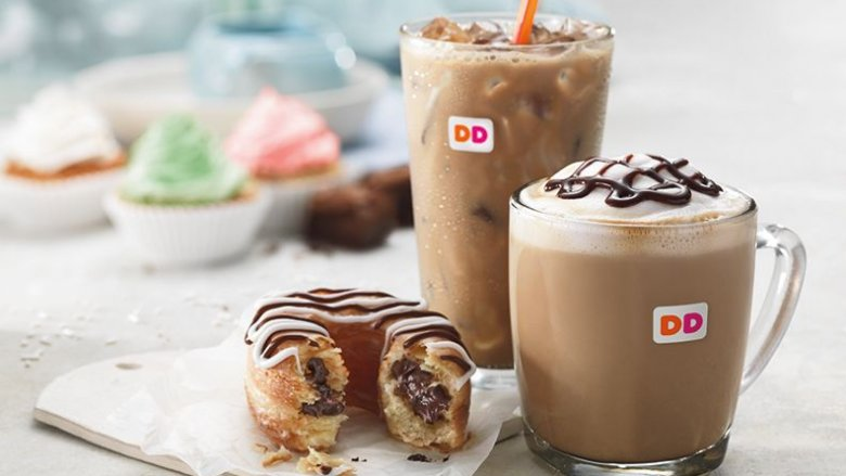 Iced and hot coffee from Dunkin' Donuts