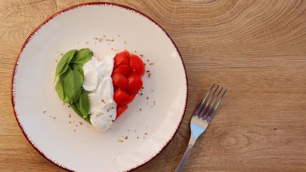 dinner table spread of Italian food