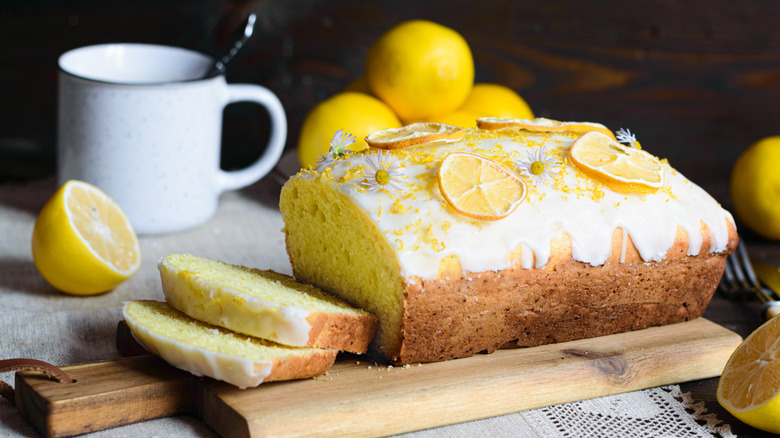 lemon loaf with icing