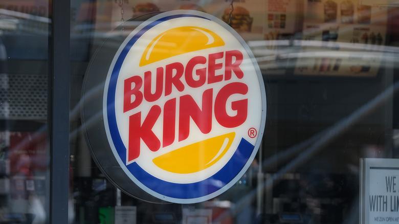 A Burger King sign