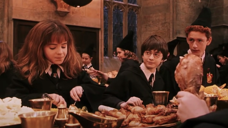 'Harry Potter' cast eats meal in Great Hall