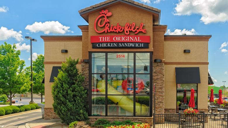 Chick-Fil-A restaurant outside