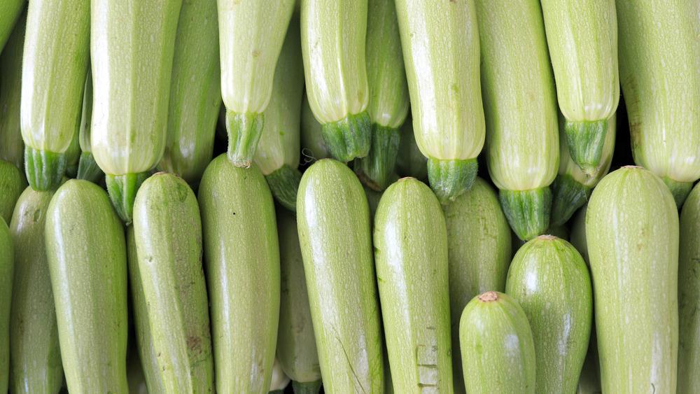 Pile of zucchini