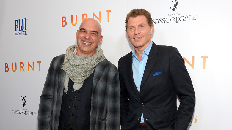 Michael Symon and Bobby Flay on the red carpet