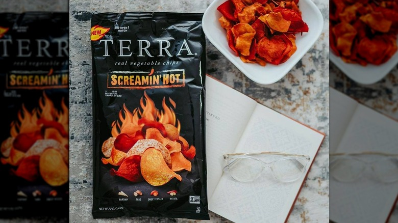 Terra Screamin Hot chips bag and bowl