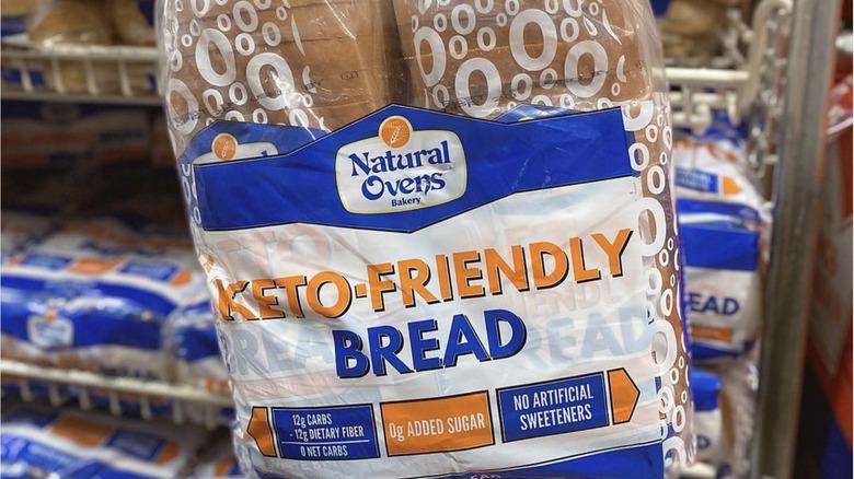Up-close image of Natural Ovens keto-friendly bread