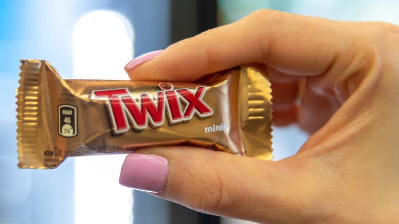 Miniature Twix bar