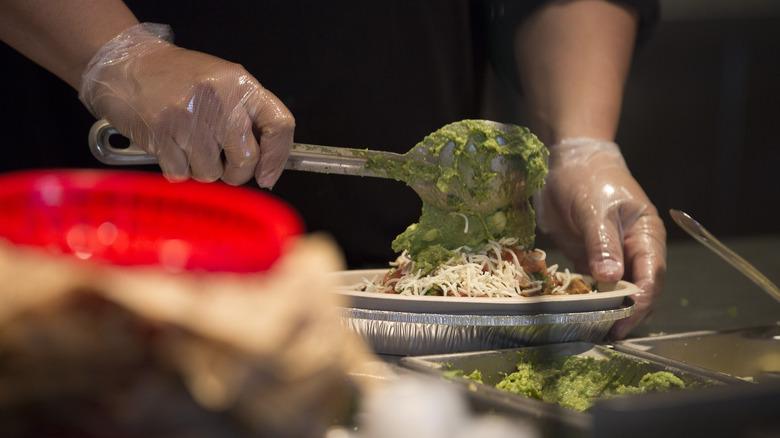Burrito bowl at Chipotle