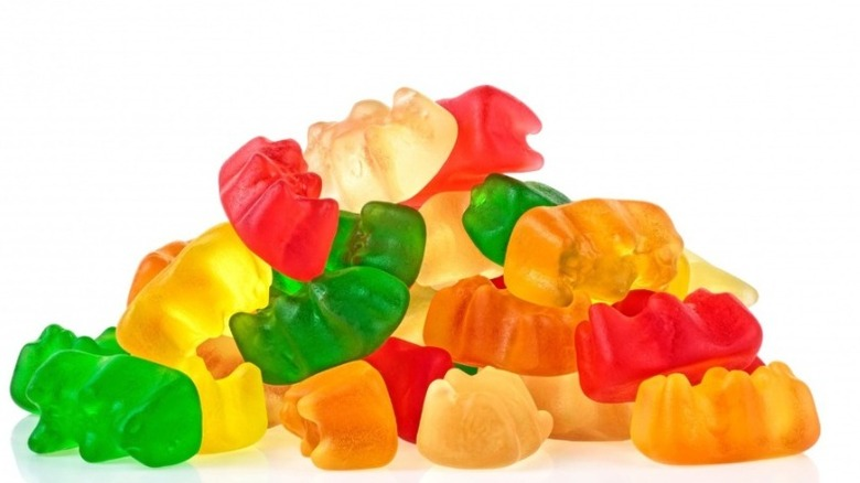 pile of multicolored gummy bears