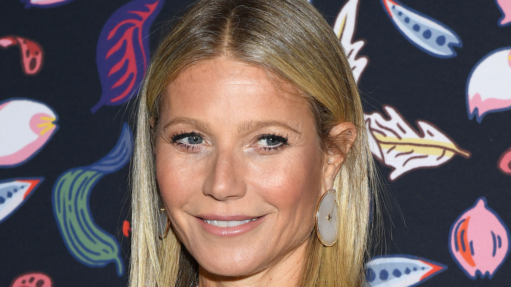 Gwyneth Paltrow with large earrings