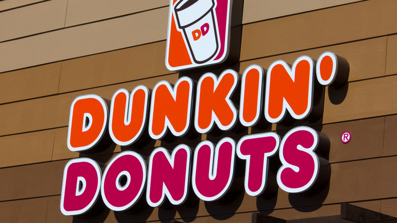 Dunkin' Donuts sign outside a store