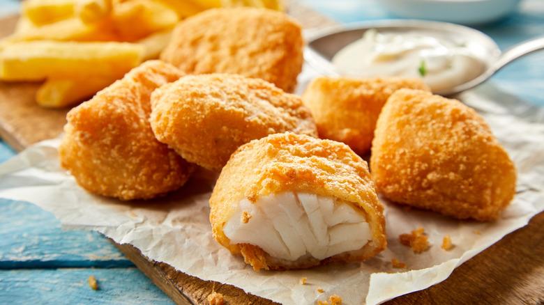 Fried cod fish