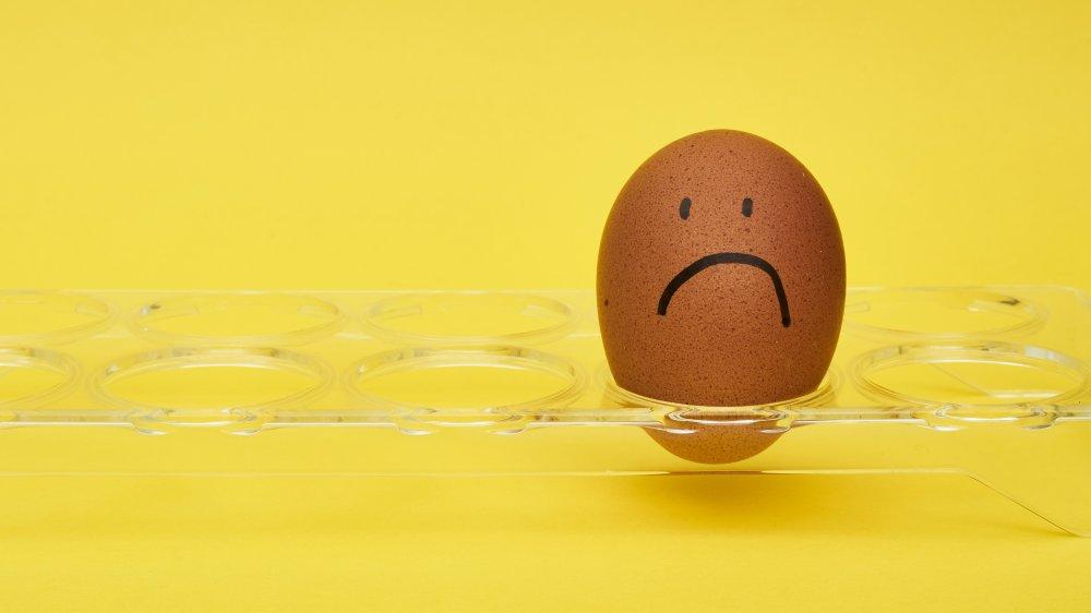 Unhappy egg