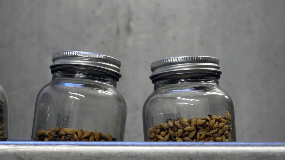 Mason jars barley