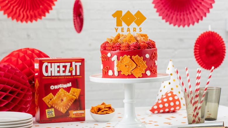 Cheez-It centennial celebration cake