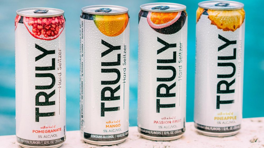 Truly Hard Seltzer in four flavors
