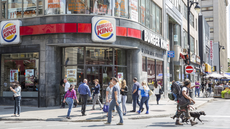 A Burger King in Montreal