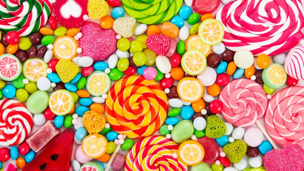 Fruit candies, different flavors