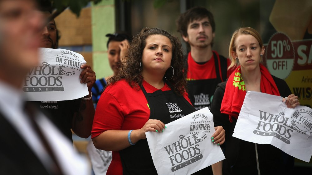 Whole Foods employees protesting