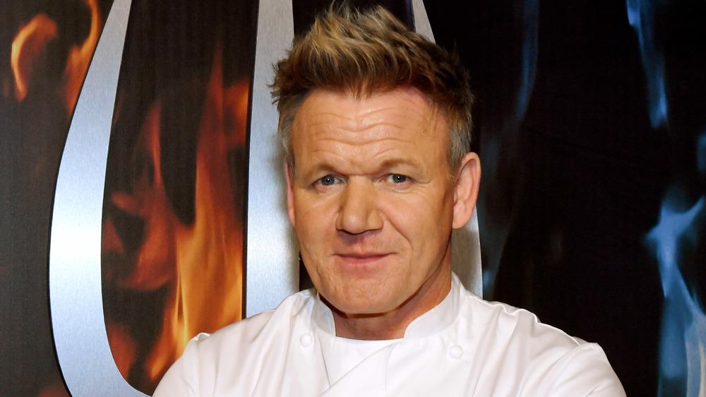 Gordon Ramsay in chef's whites